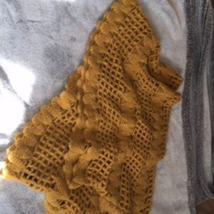 NWT mustard color scarf shawl with arm holes